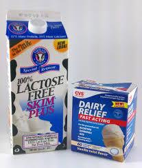 lactose free milk and lactose free icecream