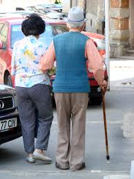 Even the elderly may be helped by probiotics - picture of 2 old folk walking